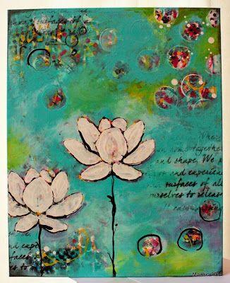 KortteiluFlow http://kortteiluflow.blogspot.fi/ Donna Downey Paint like an artist- kurssin tuotos