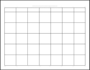Para imprimir el calendario mensual en blanco gratuito