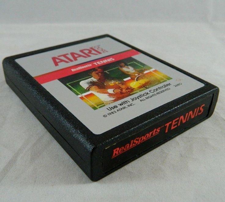 Vintage Atari 2600 RealSports TENNIS Video Game Cartridge 1983 Real Sports