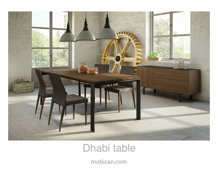 Click Here To See Mobicans Dhabi Table Our Elodi Buffet And Dali Chairs Elegantly Surround