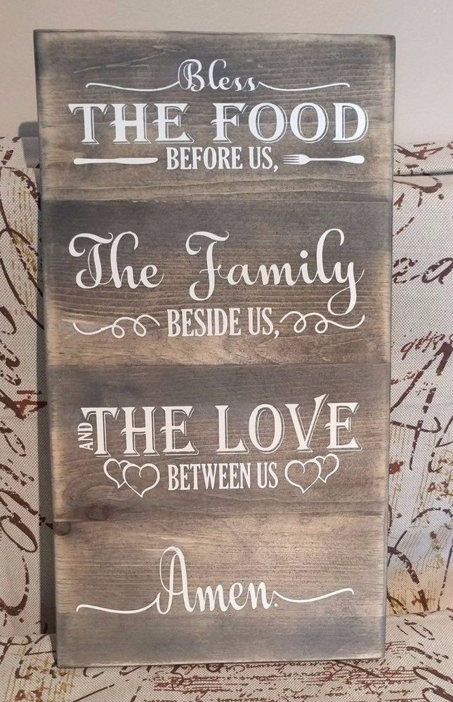 Details about Rustic Wood Sign THE GATHERING PLACE, farmhouse style, home decor, family LARGE