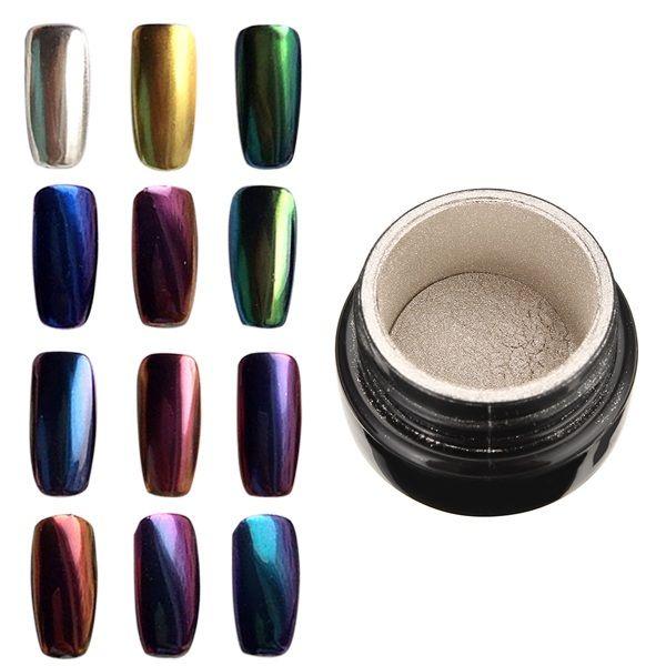 10 Colors To Choose Magic Mirror Chrome Effect Metallic Powder Additive Pigment Nail Art Nail Art Tools From Health Beauty Hair On Banggood Com Metallic Powder Magic Mirror Uv Led