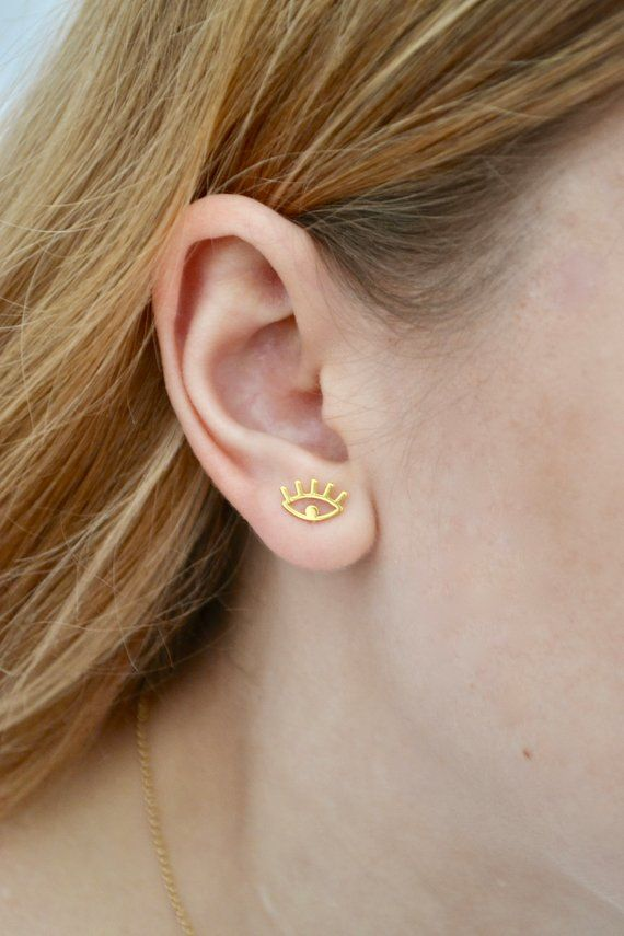 Earrings with tourmalines Long earrings Precious earrings Minimalist earrings Refined gift