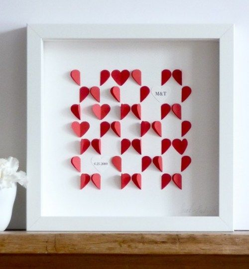 Personalised Wedding Gifts Not On The High Street : ... love heart on the high street diy wedding presents wedding anniversary