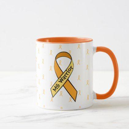 #MS Multiple Sclerosis Awareness Ribbon Coffee Mug - #drinkware #cool #special