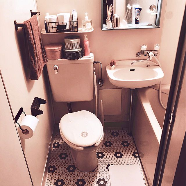 Ioさんのbathroom ナチュラル Ikea Diy 一人暮らし ユニットバス クッションフロア 賃貸 ソストレーネグレーネに関する部屋写真 ユニットバス インテリア ユニットバス 一人暮らし キッチン 狭い 収納