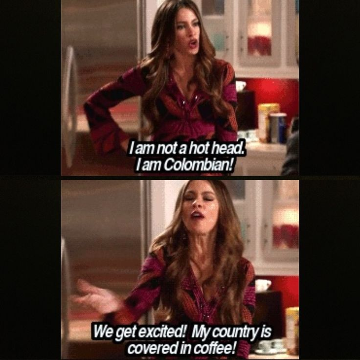 Sofia Vergara in modern family Colombian ........ hihi, yes we Southamerican are like that ;)