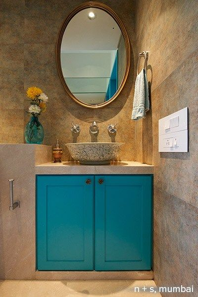 Teal House Is Actually An Apartment In Mumbaiu0027s Napean Sea Road, Spanning  An Area Of. Teal HouseContemporary Bathroom DesignsDesign ...