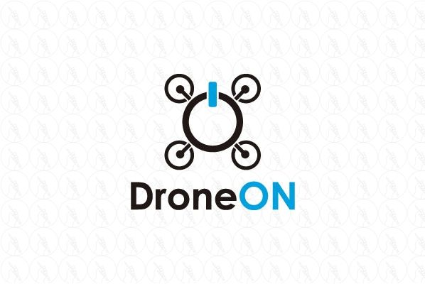 Drone On - $250 (negotiable) http://www.stronglogos.com/product/drone #logo #design #sale #security #drone #app #gaming #on #button #surveillance #guard #IT