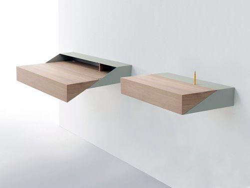 DeskBox - настенный раскладывающийся письменный стол / Минималистичный интерьер / Минимализм и простота как стиль жизни