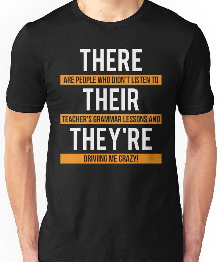 Humorous Trainer Grammar Lesson T-shirt Unisex T-Shirt