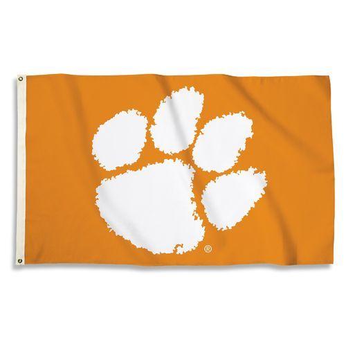 BSI Clemson University 3' x 5' Flag (Orange, Size ) - NCAA Licensed Product, NCAA Novelty at Academy Sports
