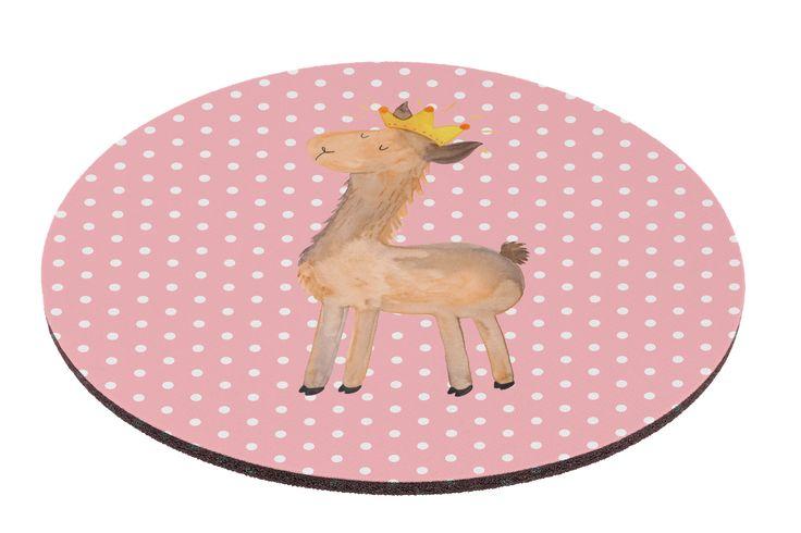 Mauspad rund Lama König aus Naturkautschuk  black - Das Original von Mr. & Mrs. Panda.  Ein wunderschönes rundes Mouse Pad der Marke Mr. & Mrs. Panda. Alle Motive werden liebevoll gestaltet und in unserer Manufaktur in Norddeutschland per Hand auf die Mouse Pads aufgebracht.    Über unser Motiv Lama König  Lamas sind für uns bei Mr. & Mrs. Panda die Königstiere und die pure Coolness der Tierwelt. Darum hat Nora gleich zu Papier und Farben gegriffen und unsere Lama-Kollektion entworfen…