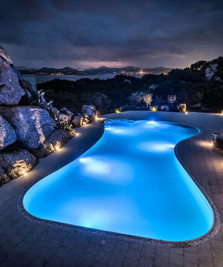 swimming pool lighting ideas. cool pool lighting at the resort mau0026ma in sardegna swimming ideas