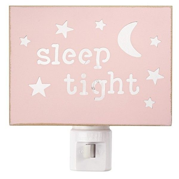 Infant Mud Pie 'Sleep Tight' Twinkling Night Light ($16) ❤ liked on Polyvore featuring home, lighting, pink, star lamp, star nightlight, pink night light, star night light and star night lights