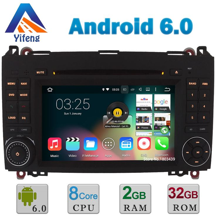 """7"""" Android 6 Octa Core 2GB RAM WIFI 32GB ROM Car DVD Player Stereo Radio For Mercedes-Benz A-Class W169 A150 B-Class B170 B200"""