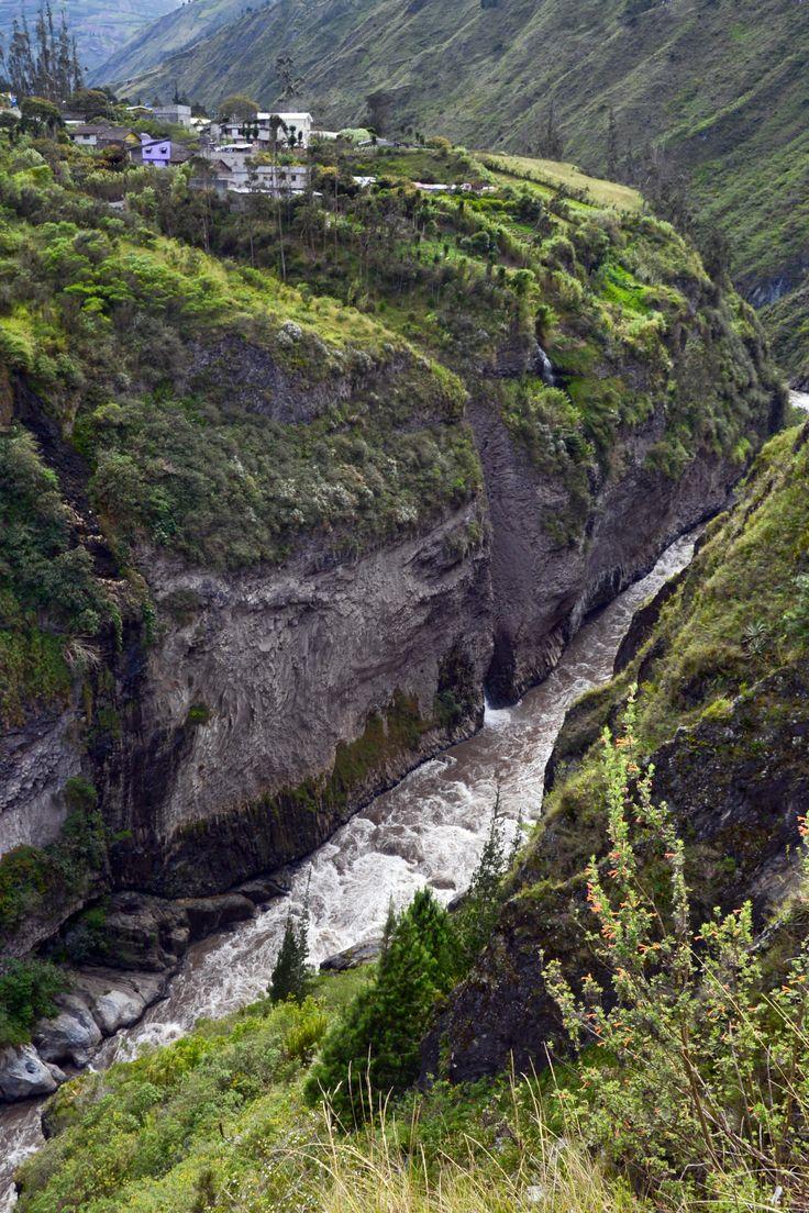 Rio Pastaza gorge by Banos