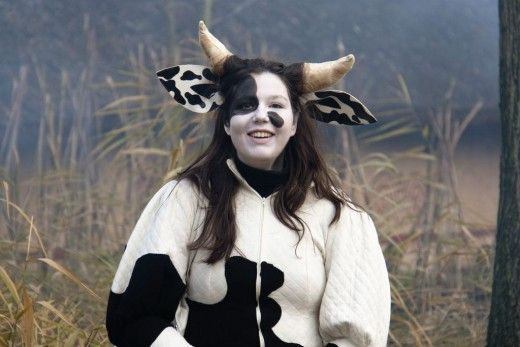 how to make a cow costume
