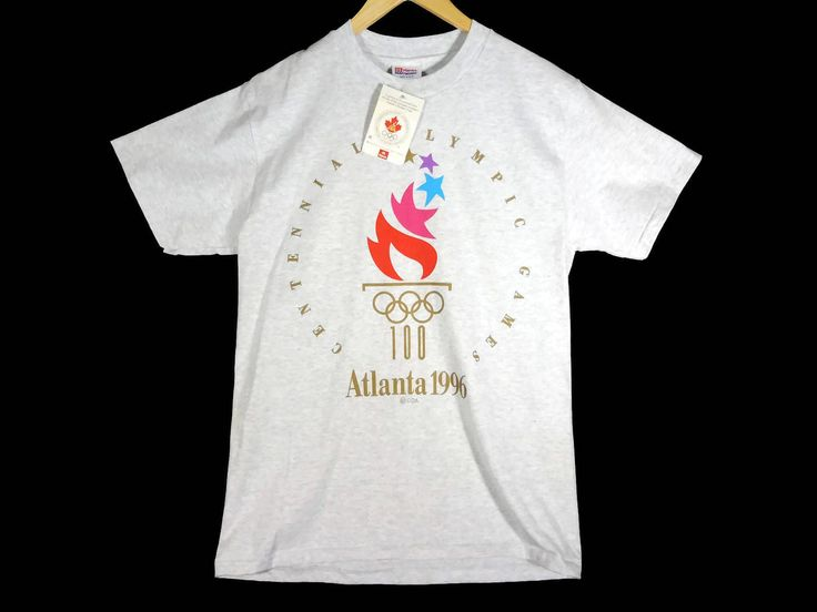 Vintage Deadstock 1996 Atlanta Olympics T-Shirt - Medium - 96 Olympic Games - USA - 90s Clothing - Vintage Tee - Vintage Clothing - by BLACKMAGIKA on Etsy