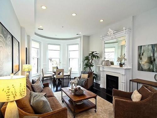 Brownstone interiors google search visionboard for Brownstone living room decorating ideas