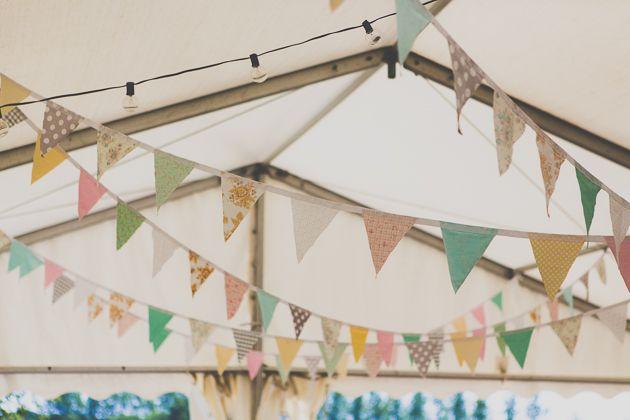 hanging garland wedding decor