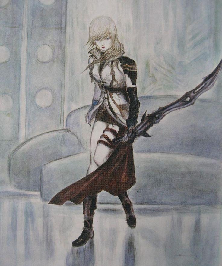 Week 13 - Final Fantasy XIII - Concept Art Mon -Lightning Amano Art