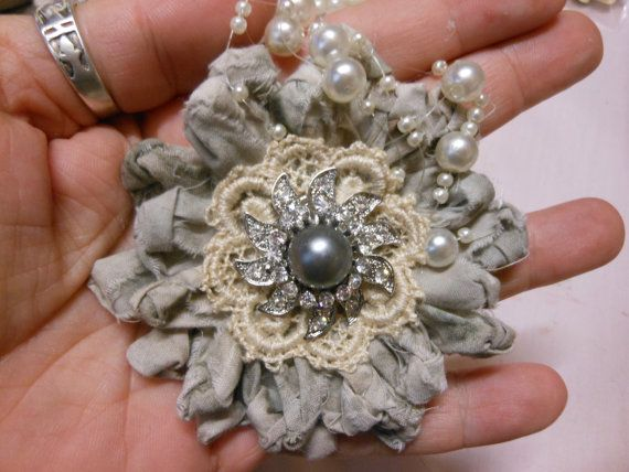 Large Cotton Knotted Handmade Flower by jennings644 on Etsy