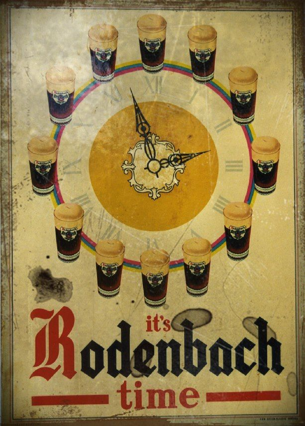 It's Rodenbach time #Rodenbach #BelgianBeers #clock #beer
