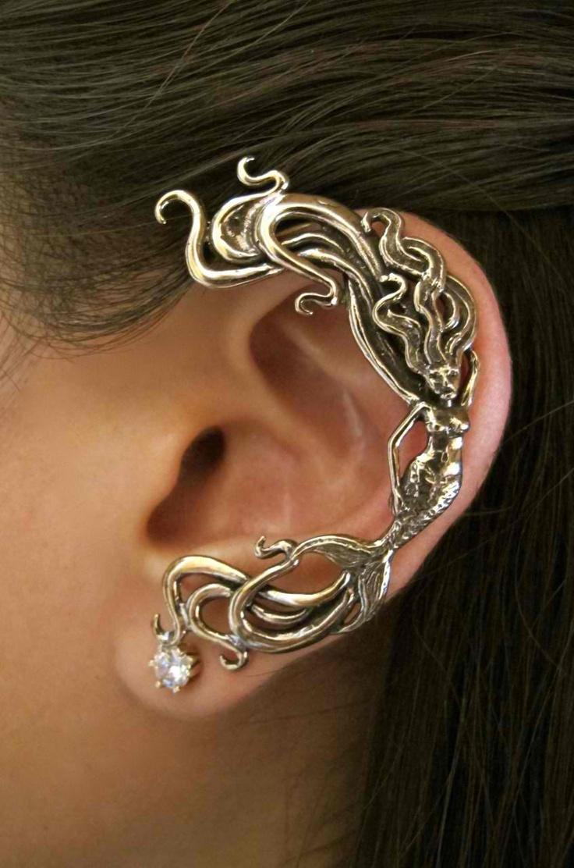 Bronze Mermaid Ear Wrap. $59.00, via Etsy.