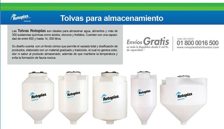 Tolvas para almacenamiento #Tanques #Rotoplas #Tolvas #Agua #Sedimentación Lada sin costo 01 800 0016 500http://www.rotoplasdistribuidor.com/productos/tolvas-rotoplas