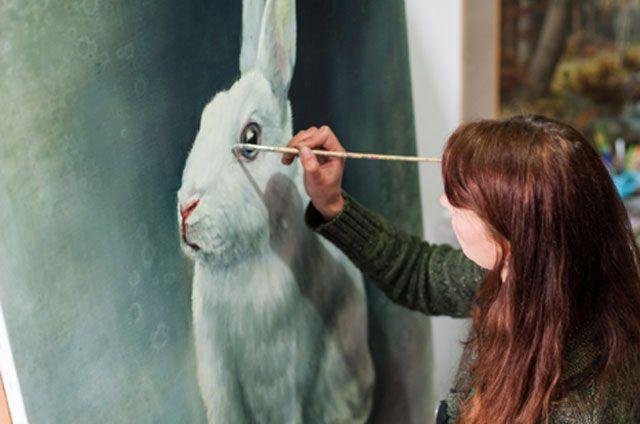 Nanouk Weijnen rabbit painting