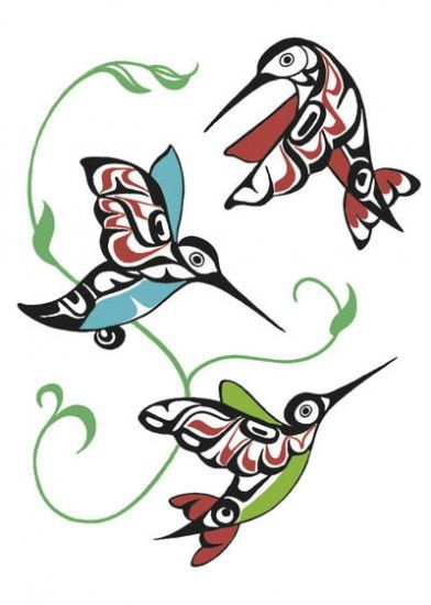 Hummingbirds by Odin Lonning - Click Image to Close