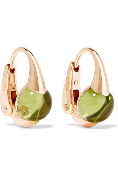 Pomellato - M'ama Non M'ama 18-karat Rose Gold Peridot Earrings - one size