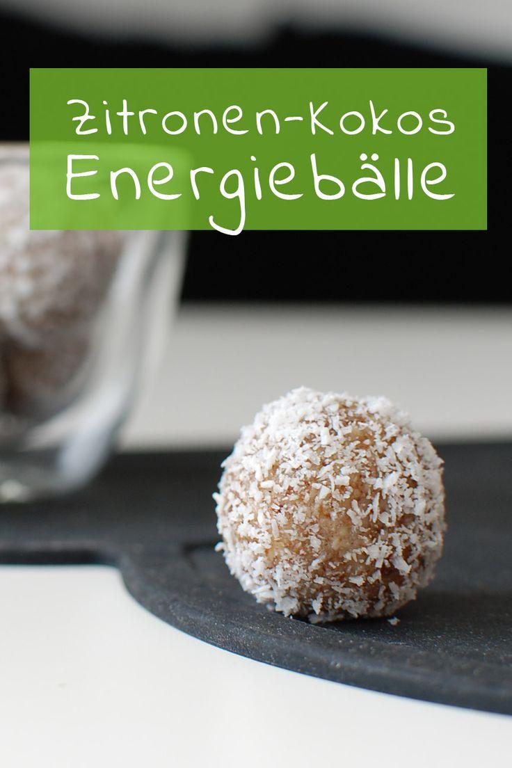 {Clean Eating EM – im Ballfieber} Zitronen-Kokos Energiekugeln