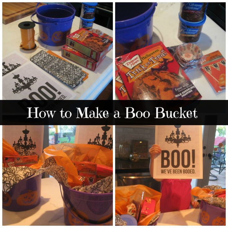 #Halloween traditions - How to make a Boo Bucket for friends and neighbors