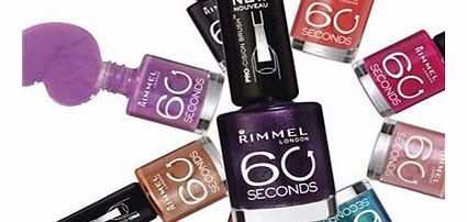 Rimmel 60 Seconds Nail Polish 500 Caramel Cupcake Rimmel 60 Seconds Nail Polish. Nail Colour. Rimmel 60 Seconds Nail Polish Available in various shades. 60 Seconds Quick dry nail polish, 1 second application 60 Seconds Nail polish: - XpressTM brush f http://www.comparestoreprices.co.uk/nail-products/rimmel-60-seconds-nail-polish-500-caramel-cupcake.asp