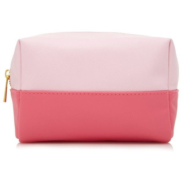 Forever 21 Colorblock Makeup Bag ($6.90) ? liked on Polyvore featuring beauty products,