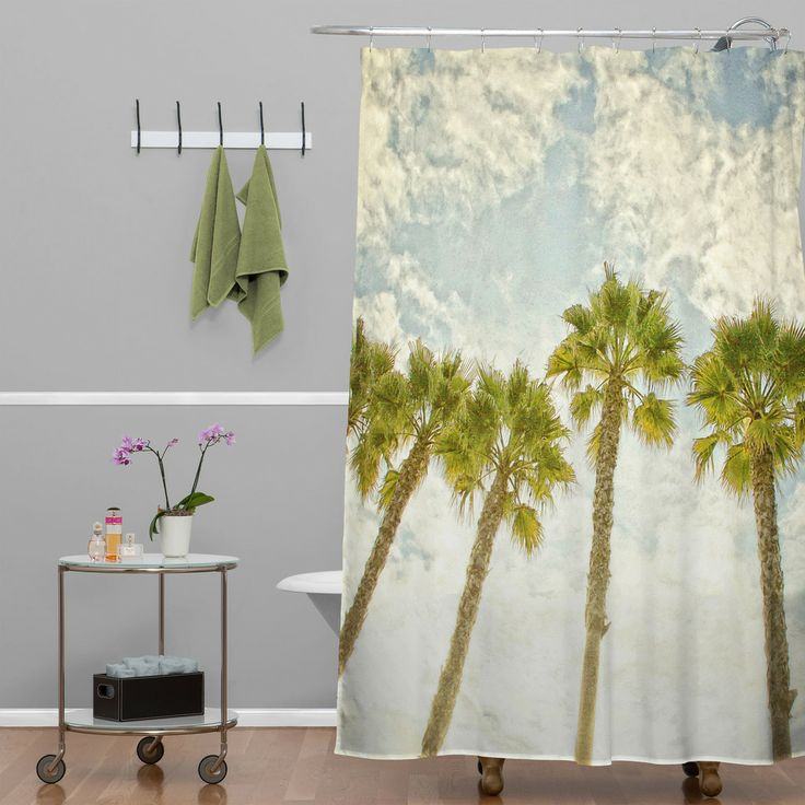 Shannon Clark Palm Trees Shower Curtain Trees Tree Shower Curtains And Palms