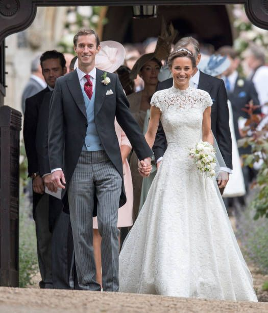 Pippa Middleton and James Matthews after their wedding at St Mark's Church on May 20 2017 in Englefield England