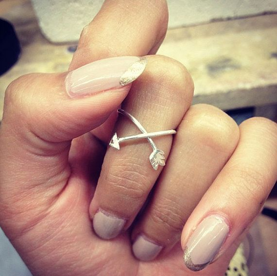 Sterling Silver Arrow ring one size by MynkNYC on Etsy, $45.00