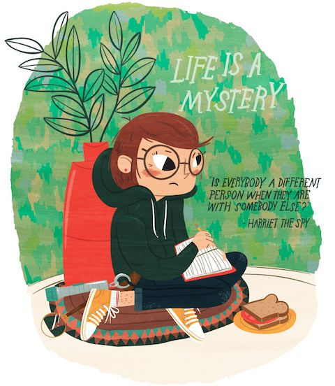 Image credit: Lauren Gregg  Harriet the Spy novel by Louise Fitzhugh published in 1964.