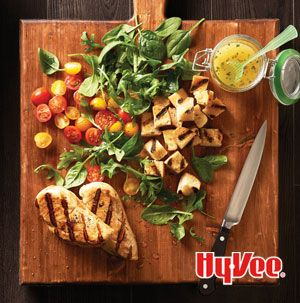 Chicken Panzanella is a salad that pleases everyone. It's got plenty of veggies, but it's also hearty.