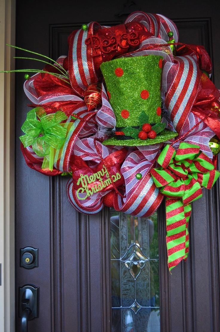 Christmas wreath deco mesh wreath wreath raz raz for Deco decorations
