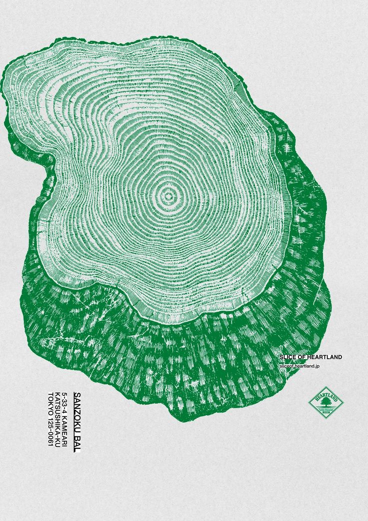 Slice of Heartland | Tree Slices Illustration Poster Design Inspiration | Award-winning Art Direction | D&AD