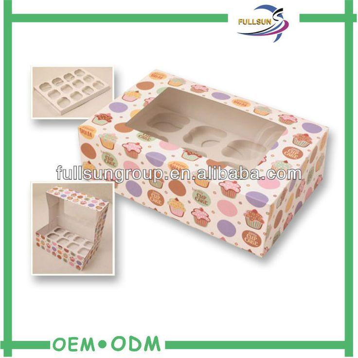 China manufacturer custom cupcake box, mini cupcake boxes, wholesale cupcake box $0.5~$0.9