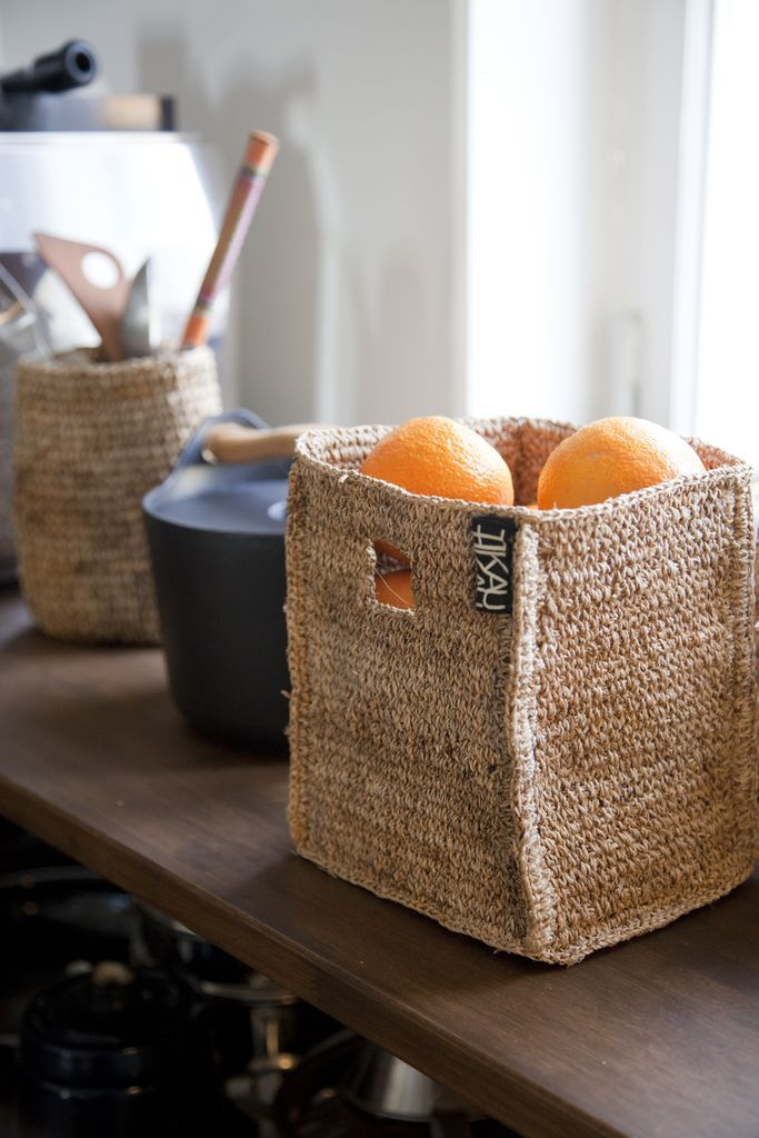 TIKAU banana fiber baskets are also great at the kitchen.