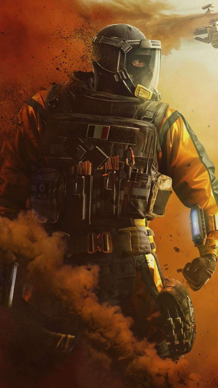 Masked Soldier Tom Clancy S Rainbow Six Siege 720x1280 Wallpaper
