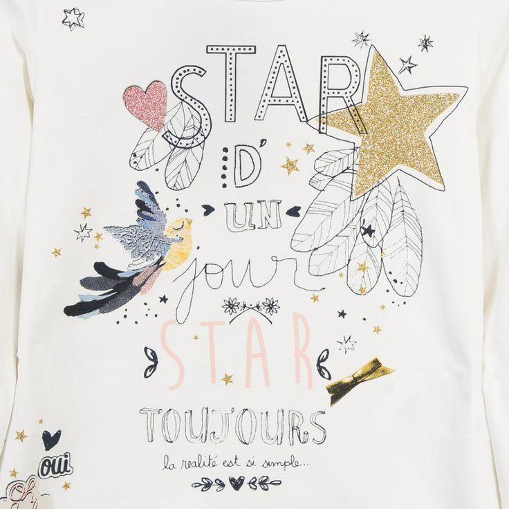 """Etoiles"" T-shirt Catimini. Découvrez l'univers Catimini, vêtements pour Girl sur Catimini"