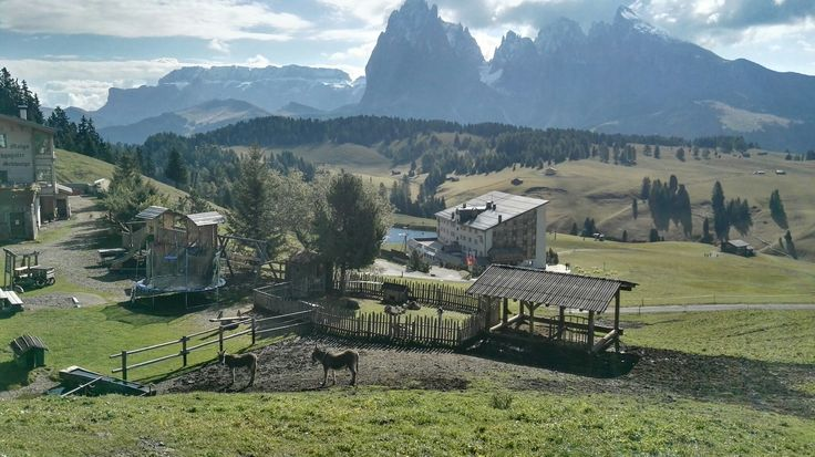 Alpe di Siusi, Alto Adige,  one part of the Dolomiti. We stayed in Ortisei. What a place, mi piace molto:-)