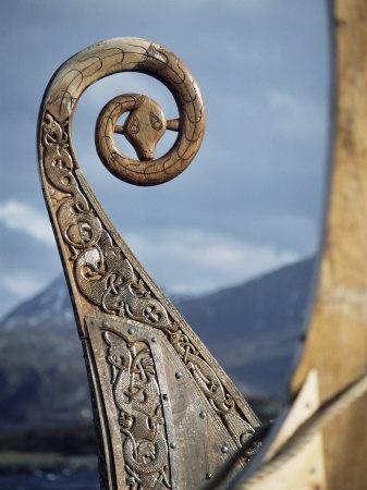 Detalle de la réplica de un Barco Vikingo, en Oseberg, Noruega. Por: David Lomax.